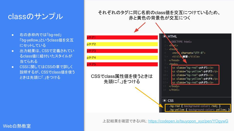 classを使ったサンプルコードとその結果